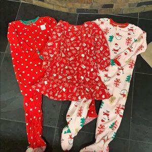 4T girls Carter's Just One You Christmas PJ bundle